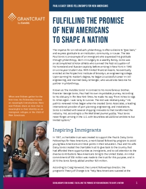 Fulfilling the Promise of New Americans to Shape A Nation