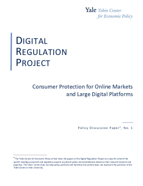 Consumer Protection for Online Markets and Large Digital Platforms